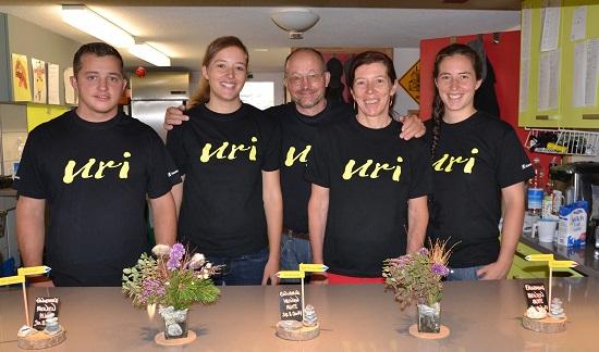 Irene und Markus Wyrsch mit den Kindern Corinne, Tanja und Dominik